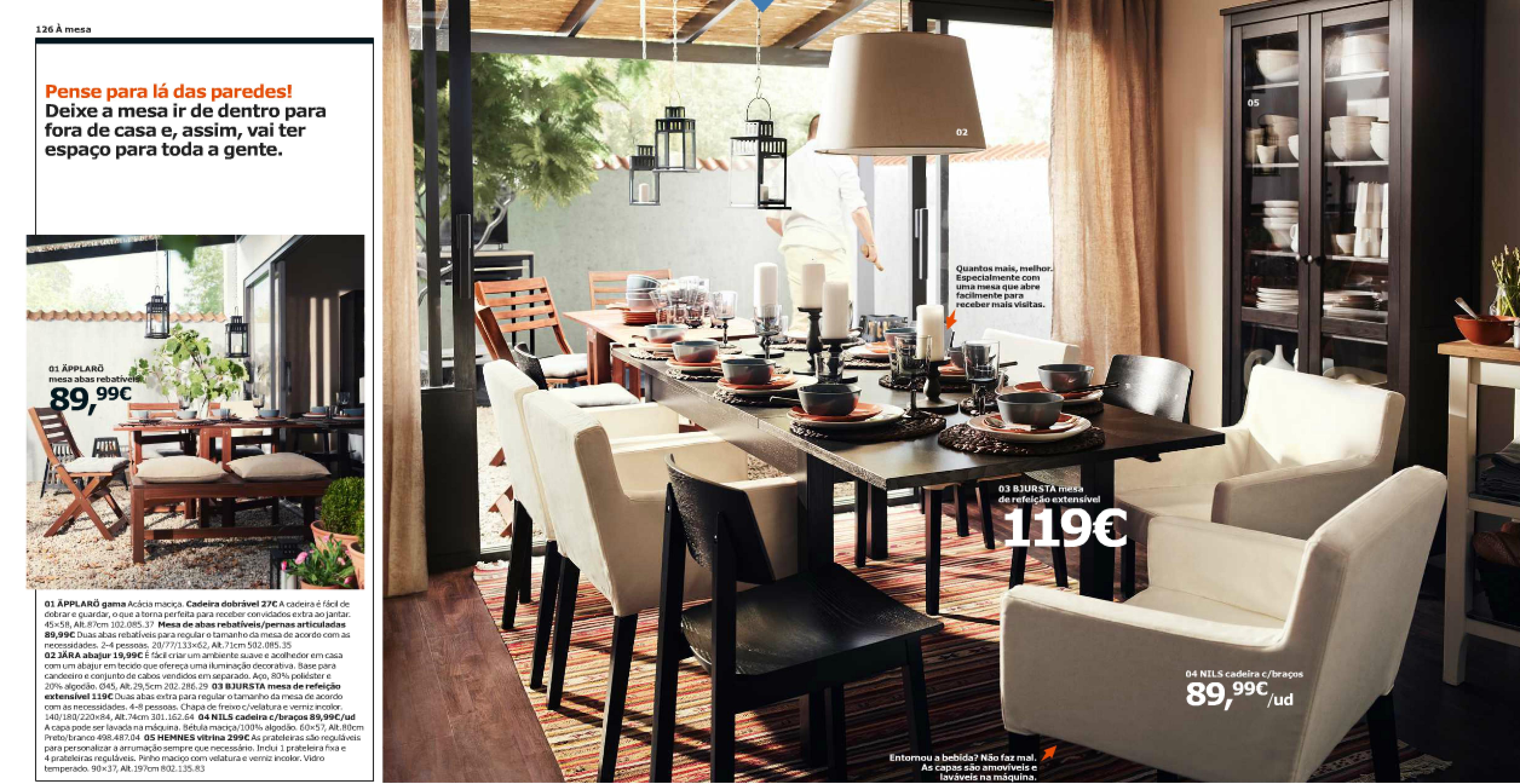Mesas de vidro para sala de jantar ikea for Sala de estar ikea