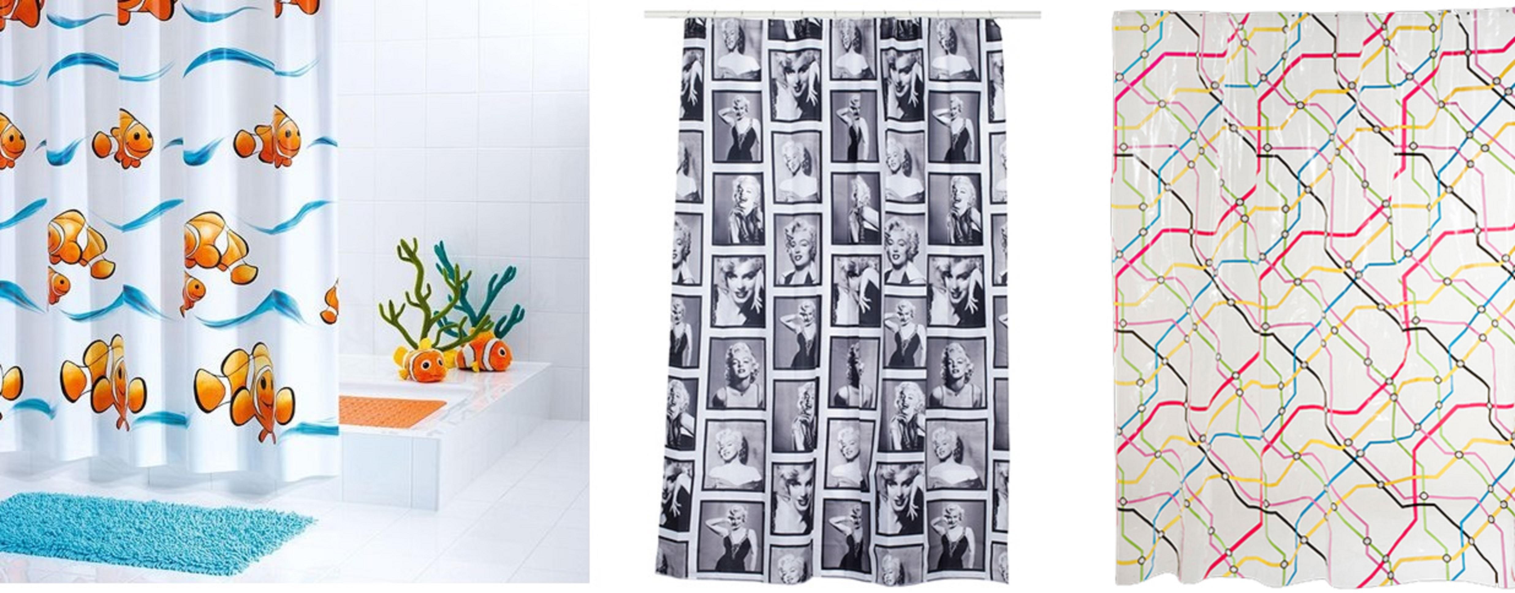 Cortinas de duche coloridas e divertidas - Leroy merlin barras de cortina ...