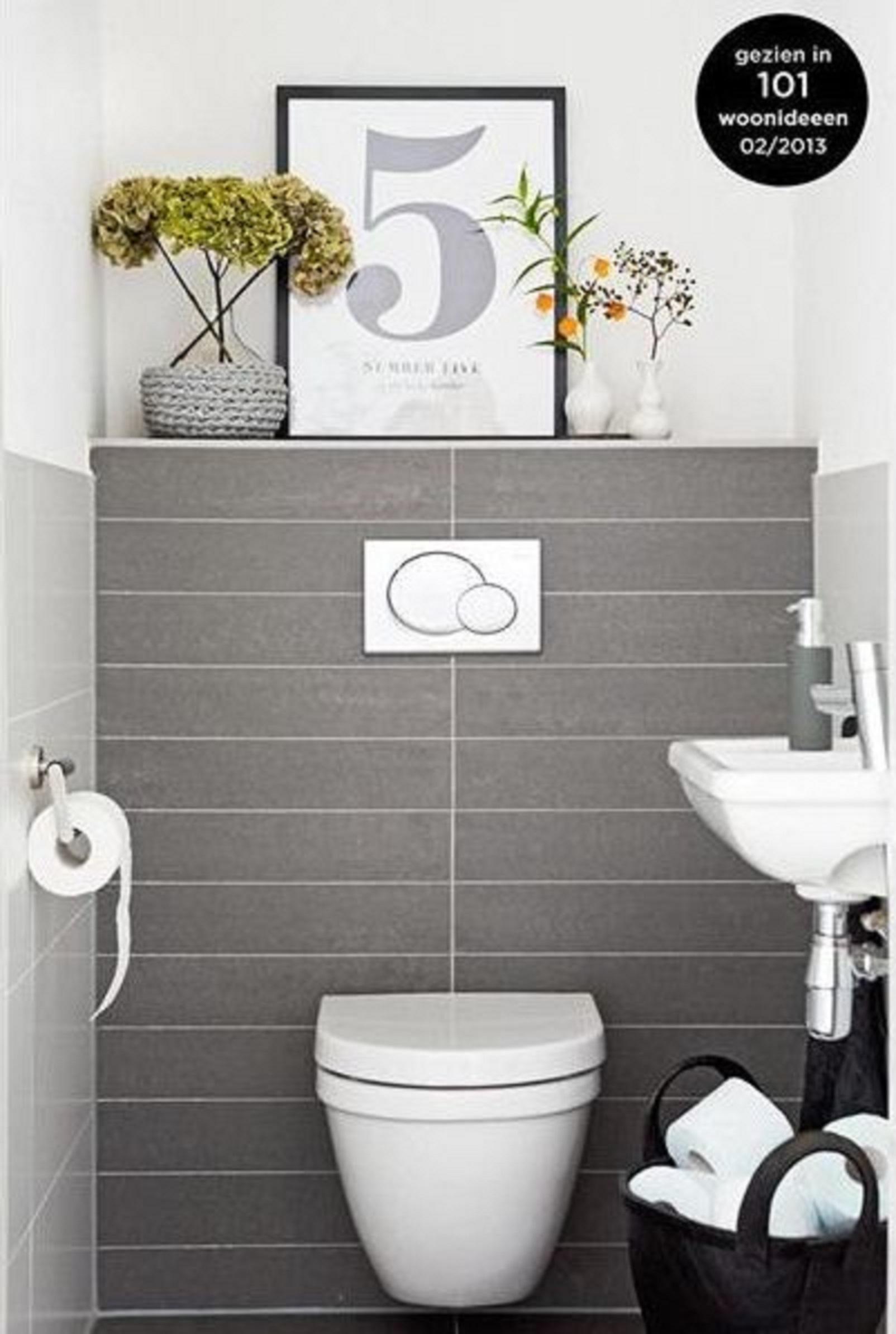 Casa de banho pequena sem problema - Voorbeeld deco wc ...